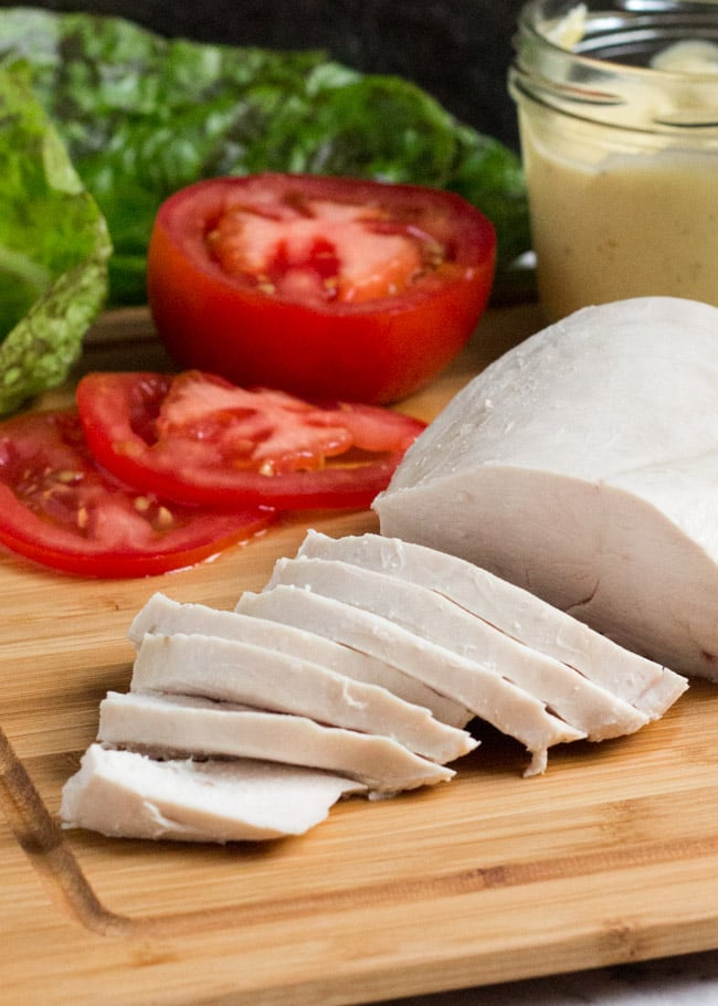 Poached chicken in 20 minutes. Great for lunchboxes, sandwiches or anywhere cooked chicken is needed.