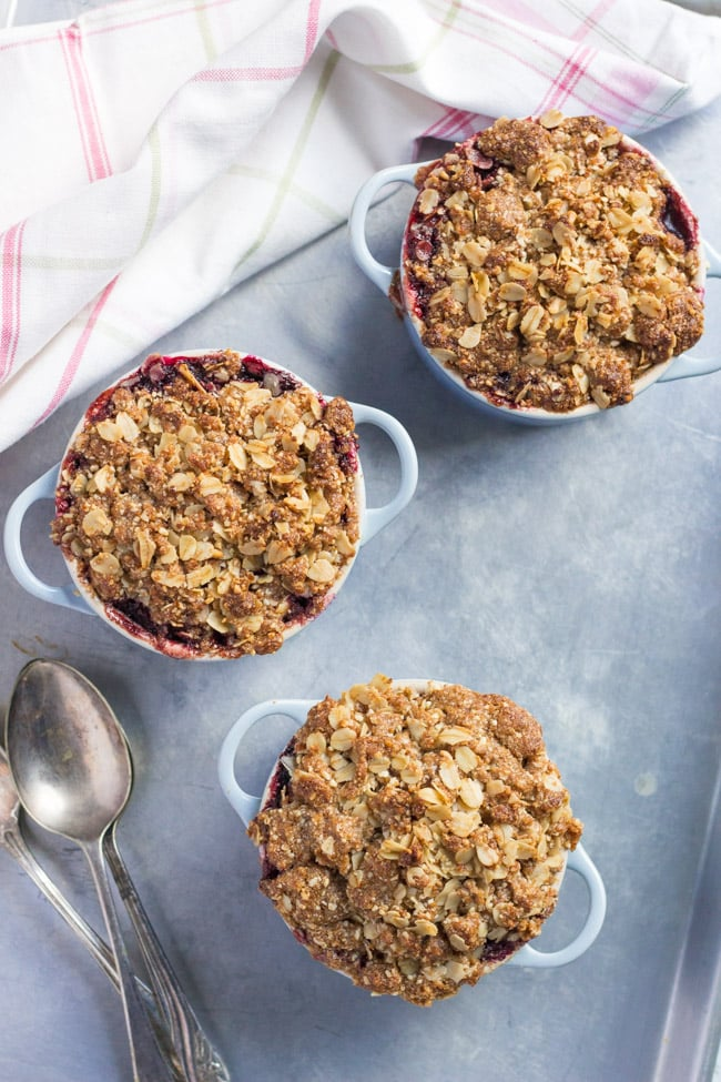 pple & Blackberry Crumble. An easy winter dessert.