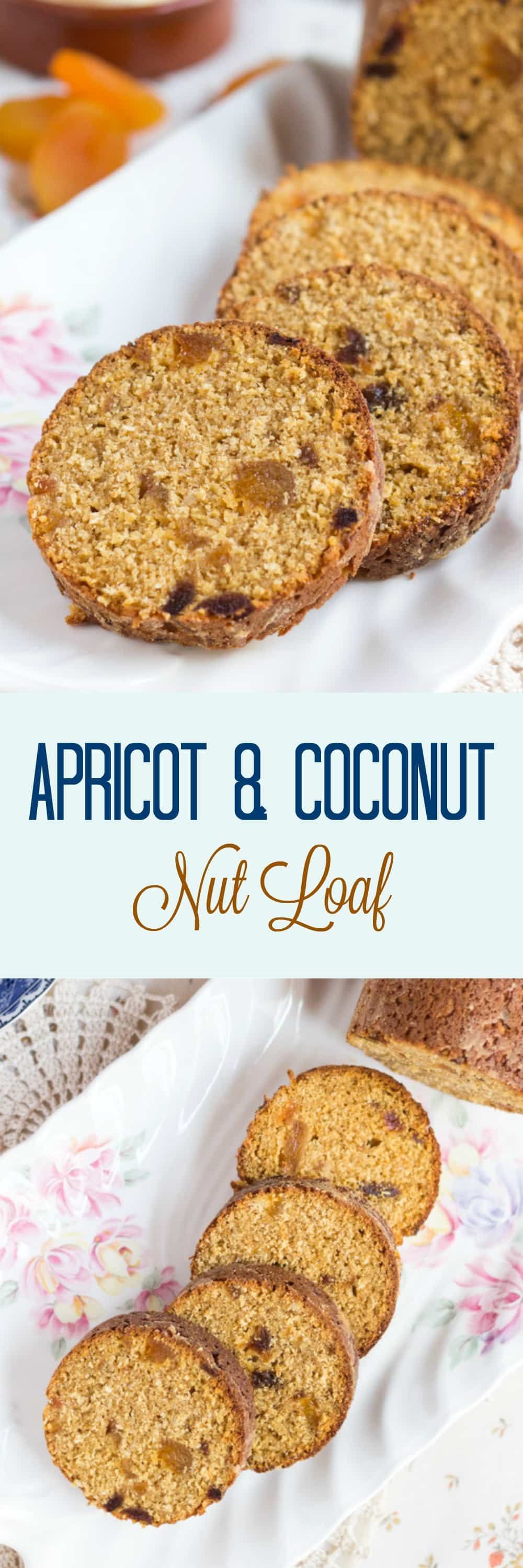Wholemeal Apricot & Coconut Nut Loaf. Perfect for afternoon tea or tucked into lunchboxes.