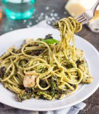 Chicken & Mushroom Pesto Pasta   The Recipe Redux