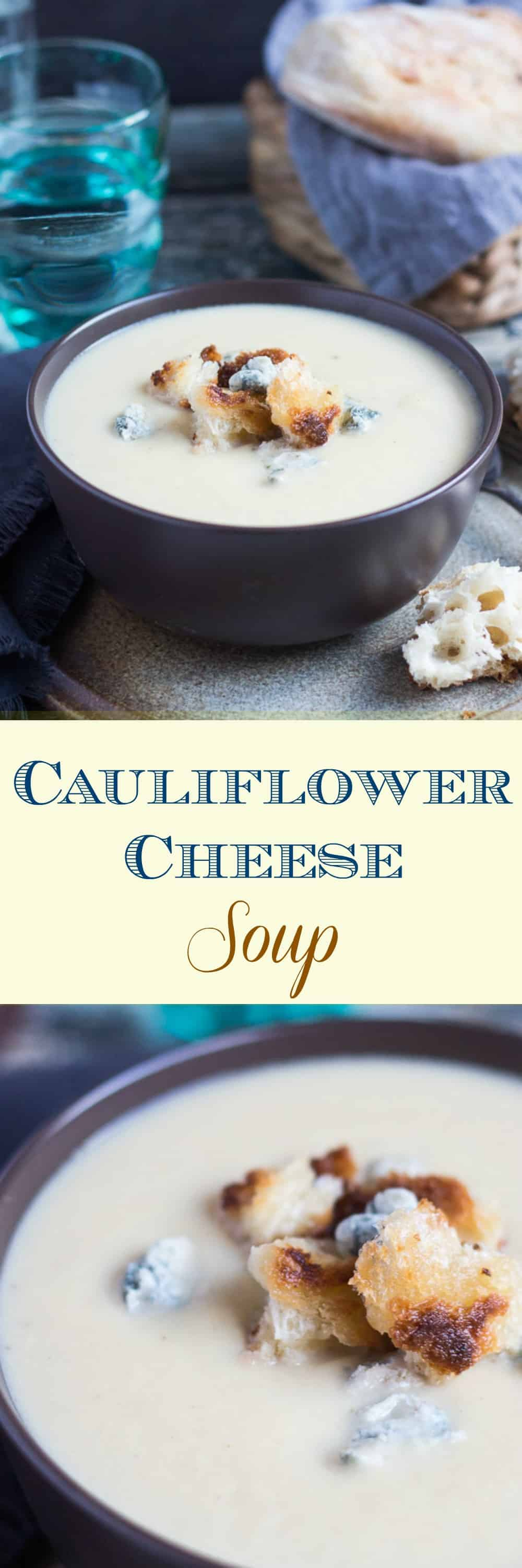 Creamy Cauliflower Cheese Soup. A steaming bowl is perfect for banishing the winter blues.