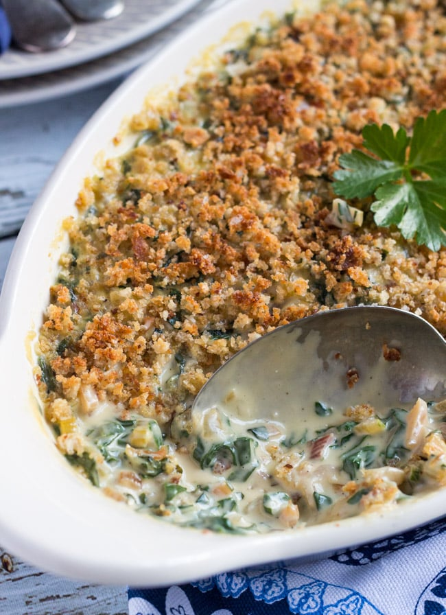 Creamy Silverbeet Gratin. Doubles as a simple side dish and a vegetarian main.