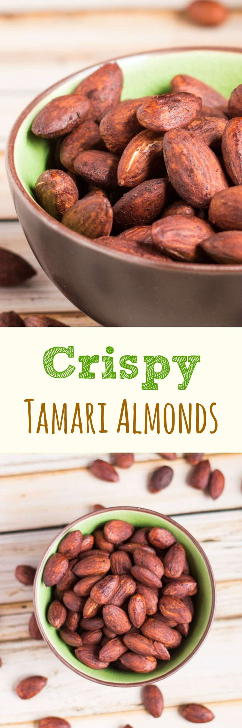 Crispy Tamari Almonds are the perfect snack when you are craving something slightly salty, but really good for you.