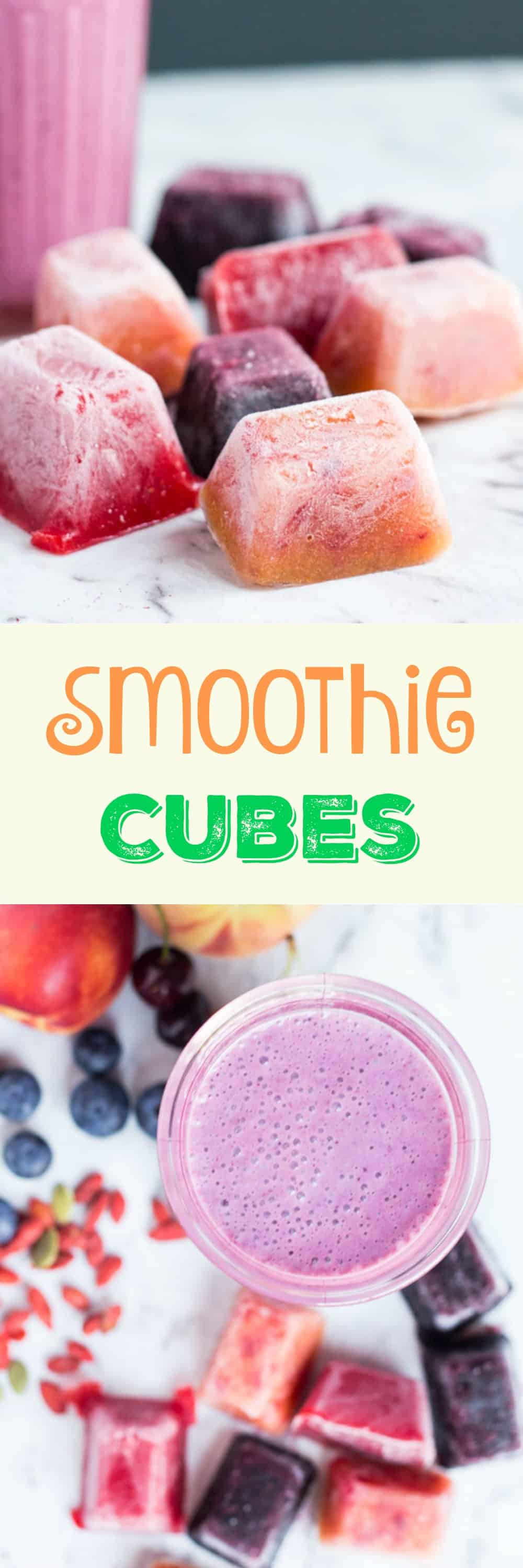 DIY Smoothie Cubes. A great way to preserve seasonal fruit, and perfect for super-quick smoothies.