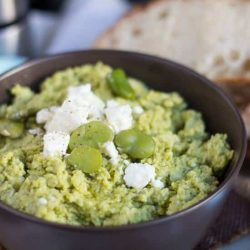 Feta & Broad Bean Dip. An extremely useful recipe, nutritious and with many uses.