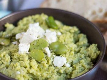 An Extremely Useful Feta & Broad Bean Dip