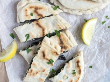 Feta, Spinach and Mushroom Gozleme | The Recipe Redux