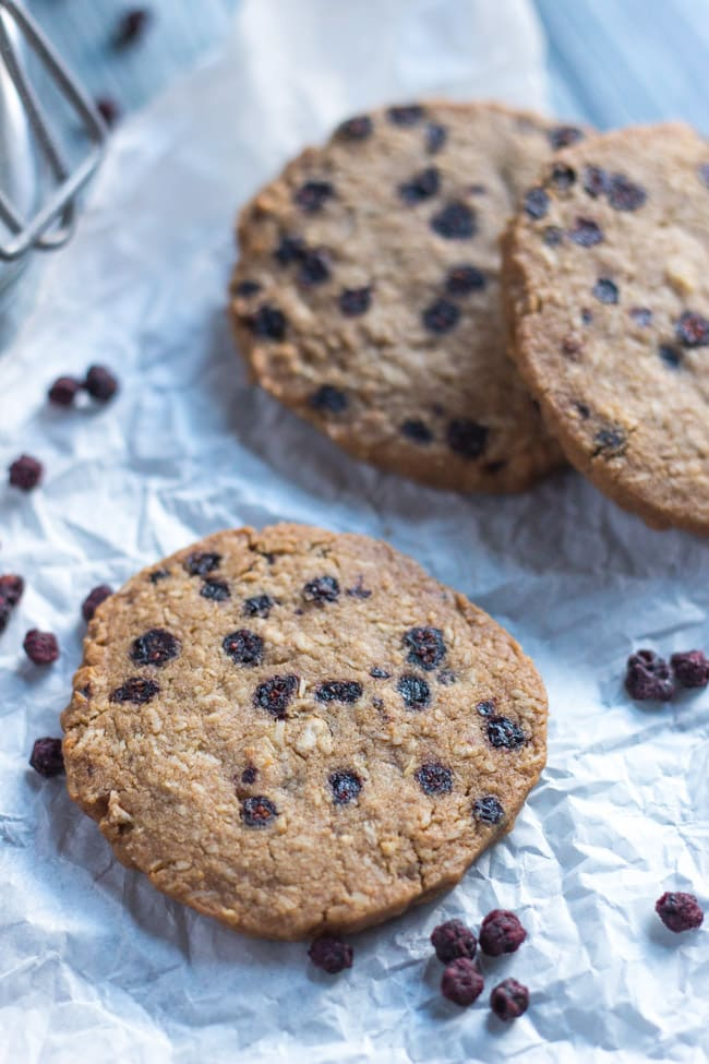 Gluten Free Blueberry & Ginger Cookies. Not your average gluten free cookie.