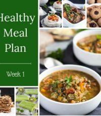Healthy Weekly Meal Plan – Week 1 2017