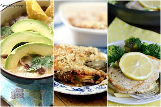 Healthy Weekly Meal Plan Week 4. A week of healthy meals to have you positively glowing. Think Chicken Enchilada soup, vegetable casserole & slow cooker leg of lamb just for starters.