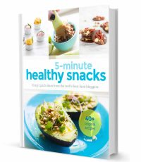 5 minute Healthy Snacks Cookbook Cover