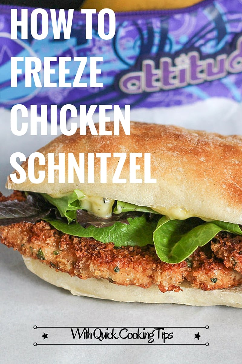 How To Freeze Chicken Schnitzel {with quick cooking tips}. Handy to have in the freezer for quick lunches or dinner.
