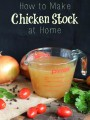 How to Make Chicken Stock at Home | thecookspyjamas.com
