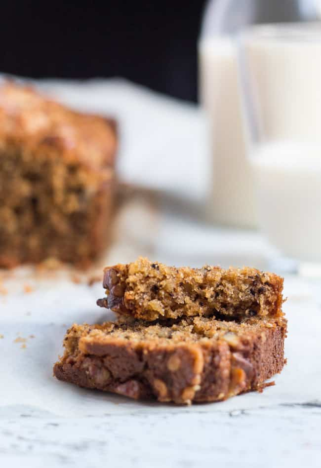 Kamut & Walnut Loaf Cake, which can be whipped up in 5 minutes in the food processor, is perfect to tuck into lunchboxes.