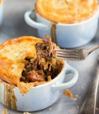 Leftover Beef and Mushroom Stew Pot Pies
