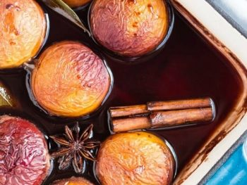 Make Ahead Easy Oven Roasted Nectarines in Red Wine