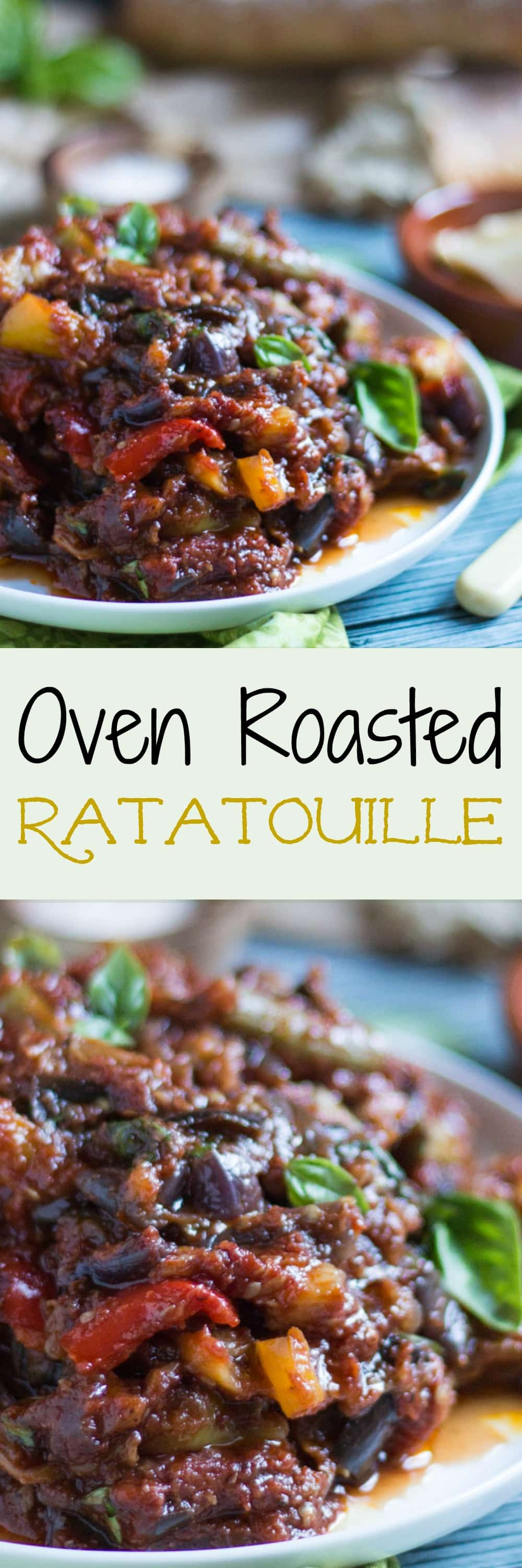 Oven Roasted Ratatouille is an extremely versatile dish, and is fantastic hot or cold. It freezes well, so keep some in the freezer for emergencies.