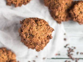 Peanut Butter & Cocoa Nib Oaty Cookies