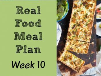 Real Food Meal Plan Week 10 2016. Includes toasted sandwiches, soup from the freezer, a slow cooker chicken curry and a spicy gnocchi dish.