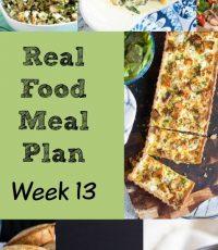 Real Food Meal Plan – Week 13