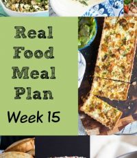 Real Food Meal Plan – Week 15 2016