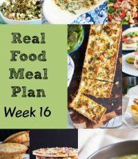 Real Food Meal Plan – Week 16 2016