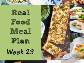 Real Food Meal Plan Week 23 2016. Includes a storecupboard pasta dish, creamy gnocchi, everyday roast chicken & a quick red curry pork stir fry.