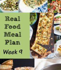 Real Food Meal Plan – Week 9 2016