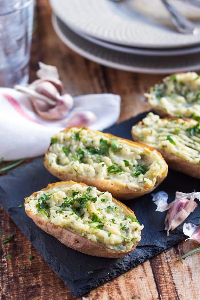 ... potato baked potatoes roasted garlic twice baked chipotle roasted