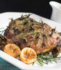 Easy Slow Cooker Leg of Lamb with Rosemary & Garlic