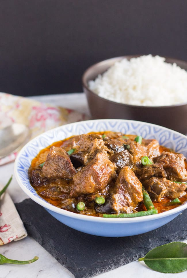 Slow Cooker Thai Red Beef Curry. Not your average slow cooker curry.