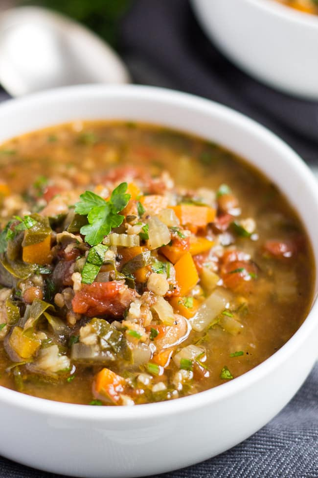 Slow Cooker Vegetable Soup. Pour a bag of soup mix into the slow cooker to create this thick & hearty slow cooker vegetable soup.