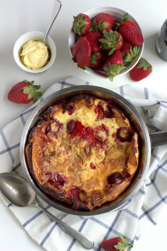 Dutch Baby With Apple & Cranberry Compote Recipe — Dishmaps
