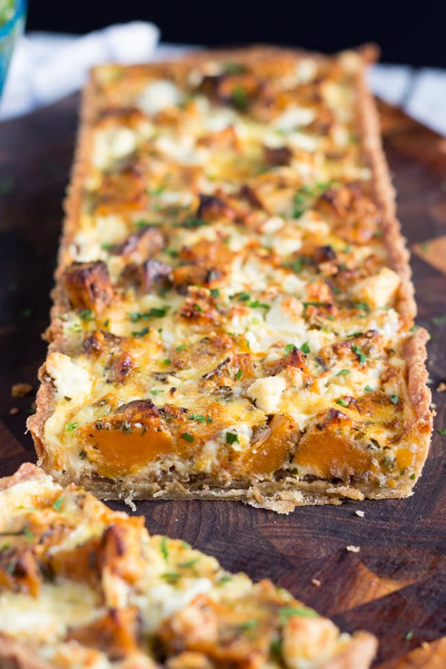Sweet Potato and Feta Tart, with its hidden layer of caramelised onion ...