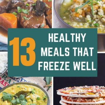 thumbnail image showing cropped collage of healthy freezer meals