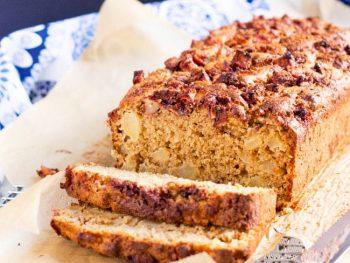 Apple & Ginger Wholemeal Loaf Cake
