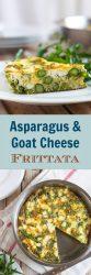 Asparagus & goat cheese frittata long pin