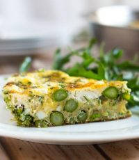 Dinner In A Hurry: Asparagus and Goat Cheese Frittata
