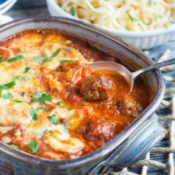 Baked Italian Meatballs. Deliciously cheesy meatballs are a snap to make, & perfect served over pasta for an easy dinner.