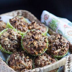 Banana & Cocoa Nib Muffins. naturally Sweetened with banana, and a great crunchy hit from the cocoa nibs. | thecookspyjamas.com