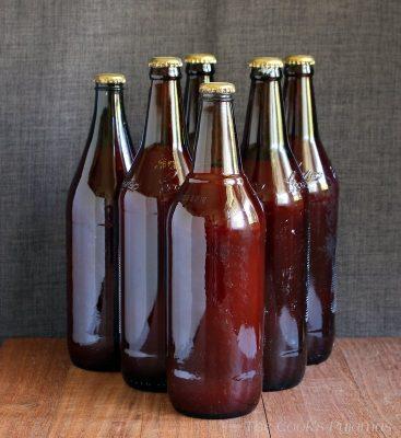 Bottles of passata