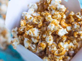 Coconut Maple Caramel Popcorn