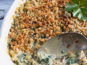 An Easy Vegetarian Creamed Silverbeet Gratin Recipe