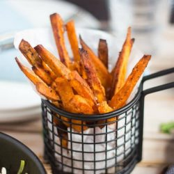 Crispy Sweet Potato Chips. All vegetables taste better as chips. Easy to make, these baked chips are a great side dish for pretty much everything.