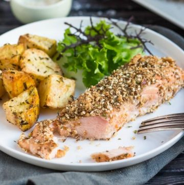 Dukkah-Spiced Baked Salmon Fillets. Simple enough for a quick mid-week meal, yet fancy enough to serve to company.