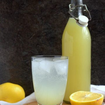 Easy Grapefruit Cordial | thecookspyjamas.com