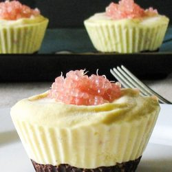 Finger Lime Ice Cream Cup Cakes. A new way to enjoy these native Australian fruit. | thecookspyjamas.com