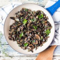 Freezer Ready Garlic Mushrooms. With a batch of these garlic mushrooms in the freezer, a simple meal is never far away.