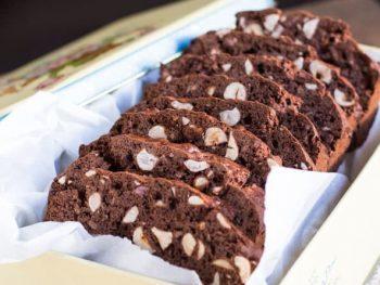 Easy Gluten Free Chocolate and Hazelnut Biscotti