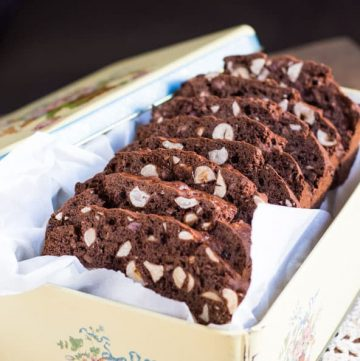 Gluten free Chocolate & Hazelnut Biscotti. Freezes brilliantly, making it perfect for surprise guests or last minute gifts.